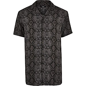 Jack and Jones dark grey snake print shirt