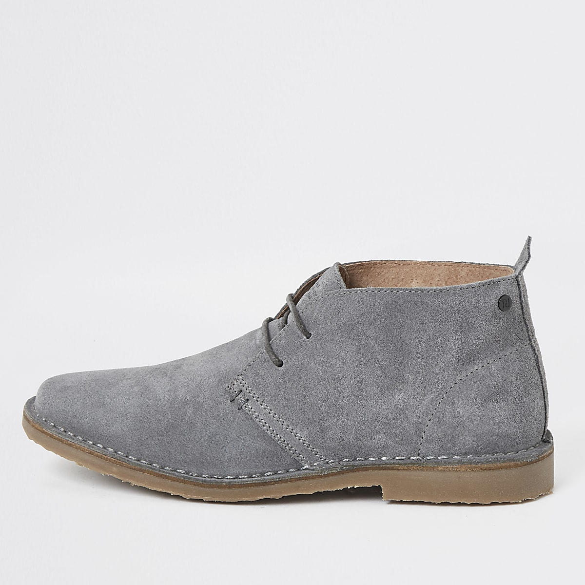 Grey suede desert boots
