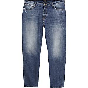 Jean court ample bleu foncé