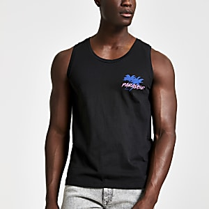Jack and Jones - Zwarte tanktop