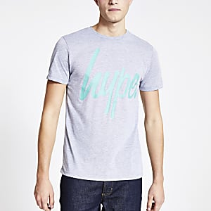Hype - Grijs T-shirt met korte mouwen en logo-print