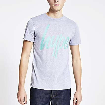 Hype grey logo short sleeve T-shirt