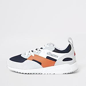 Ellesse Potenza - Grijze suède sneakers met vlakken