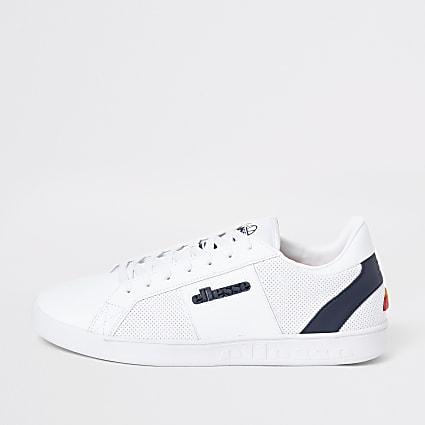 Ellesse white LS-80 leather trainers
