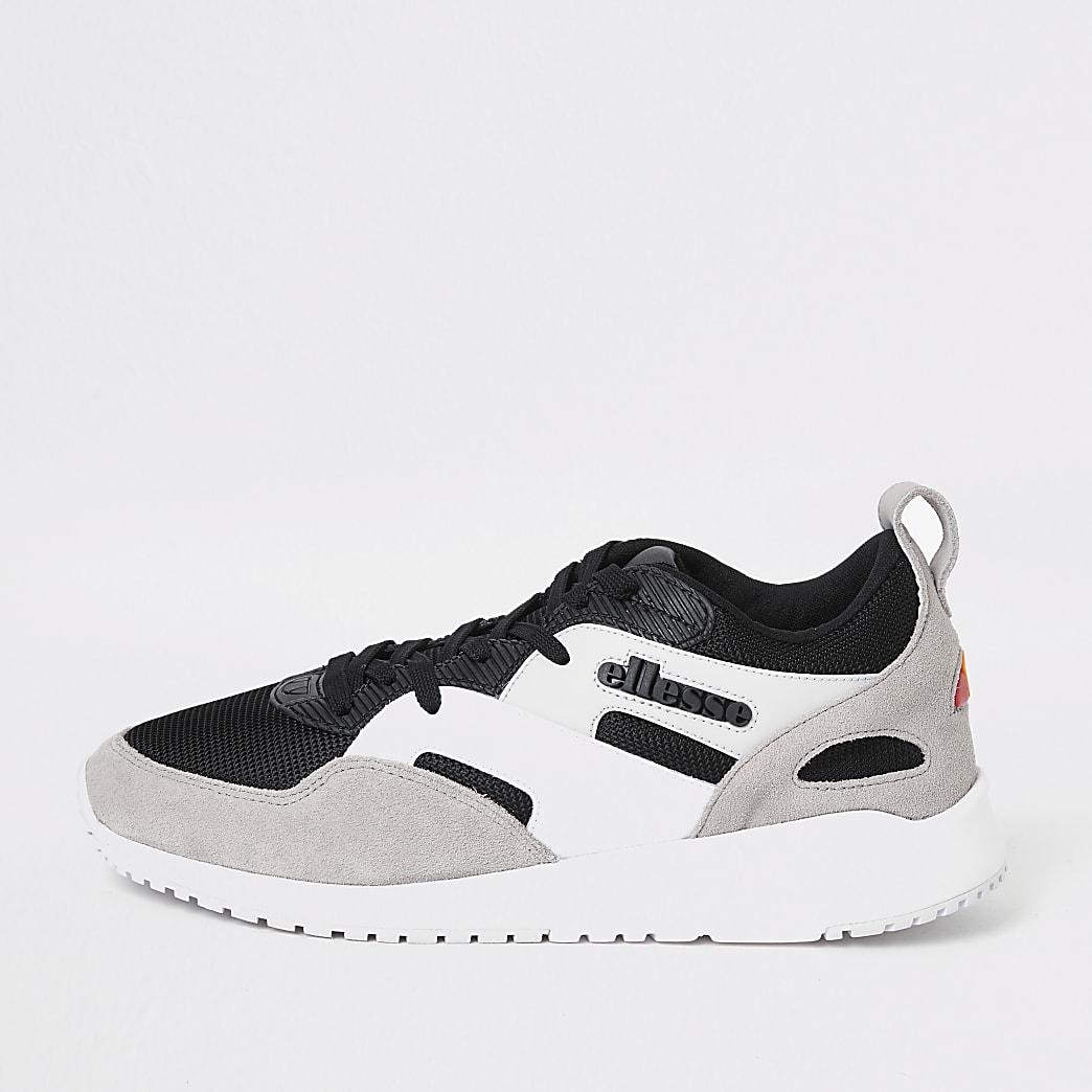 Ellesse - Zwarte contrasterende Potenza sneakers van suède