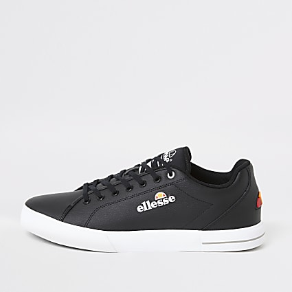 Ellesse black Taggia leather trainers