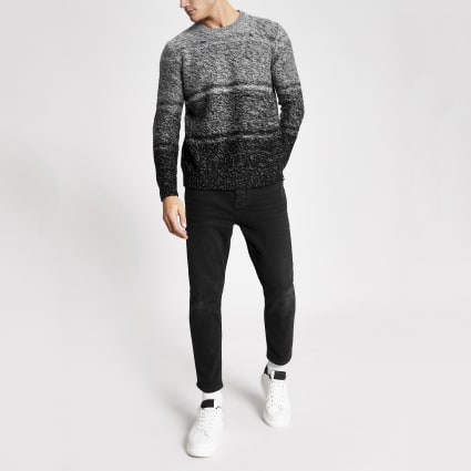 Only & Sons grey fade knitted jumper