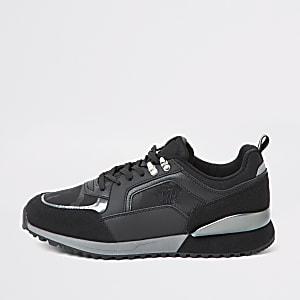 Schwarze RVR-Sneaker mit Camouflage-Muster
