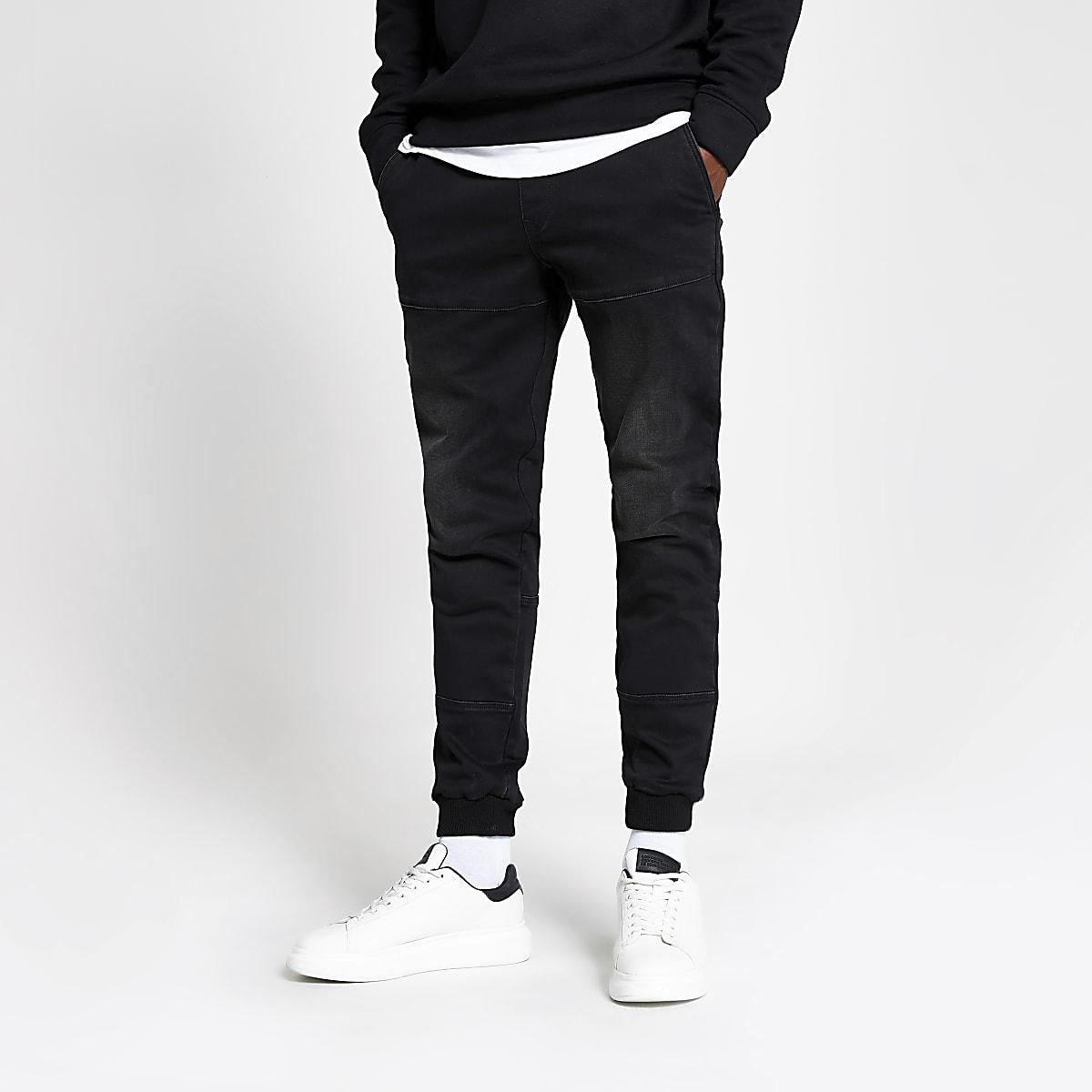 Black Ryan skinny jogger jeans