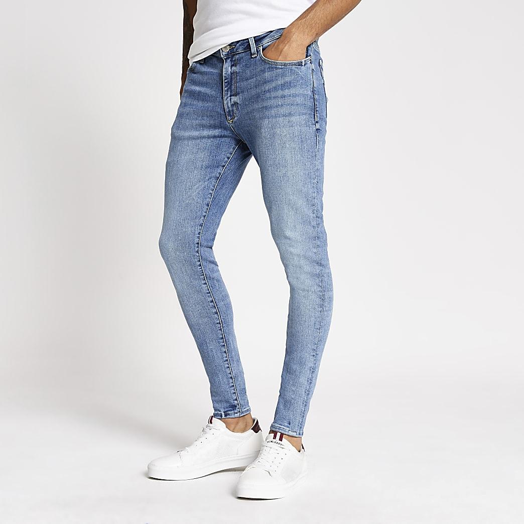 Ollie - Lichtblauwe spray-on skinny jeans