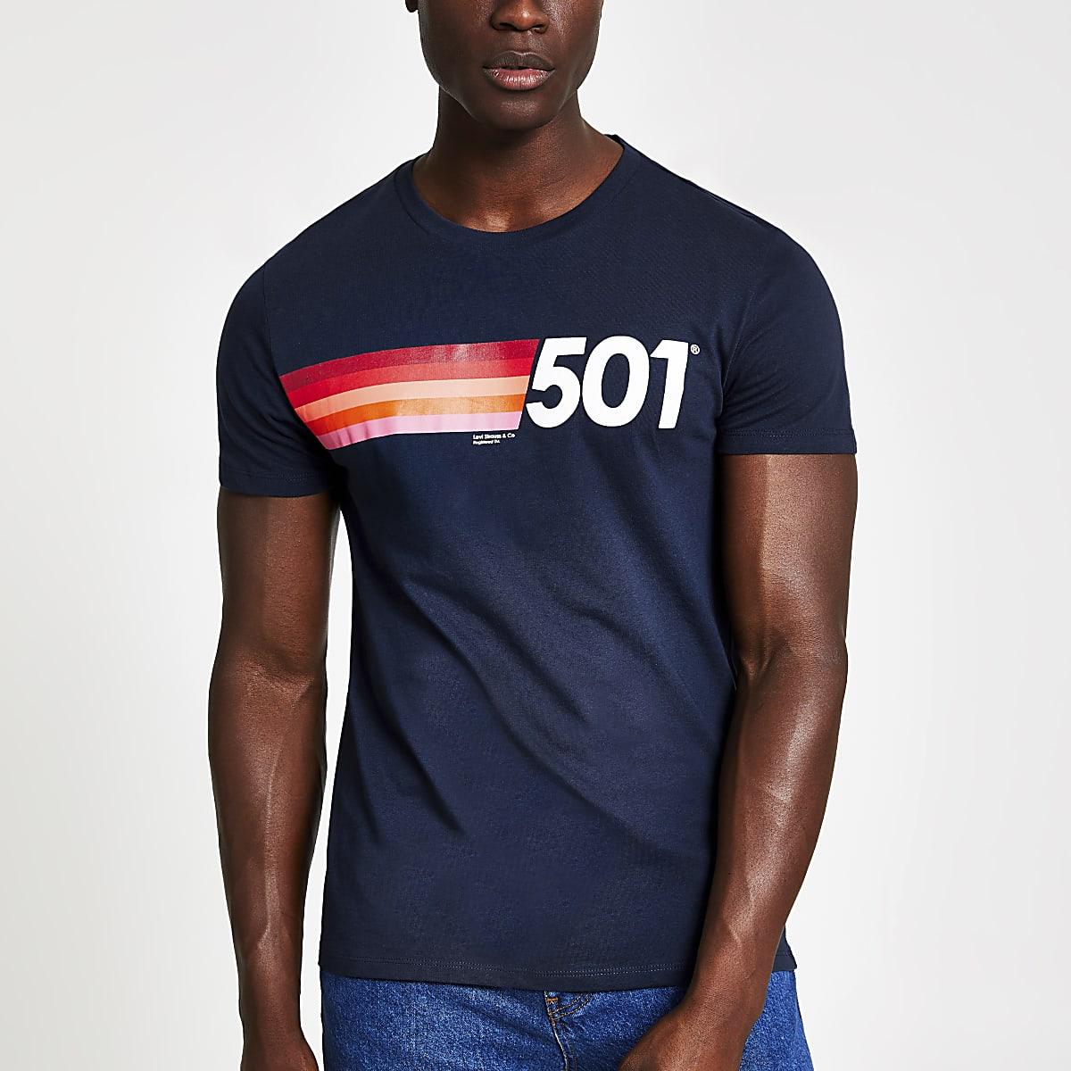 Levi's navy printed T-shirt