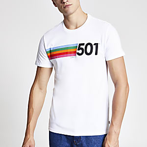 Levi's white printed T-shirt