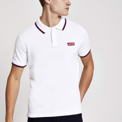 Levi's white polo shirt