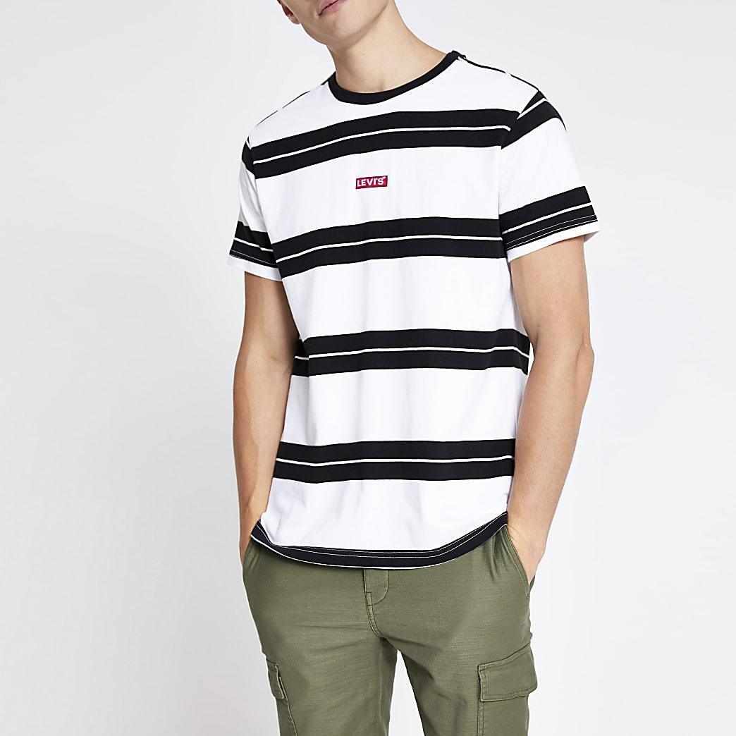 Levi's white stripe relaxed T-shirt
