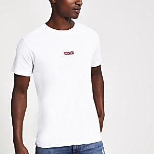 Levi's – Weißes T-Shirt mit Logo
