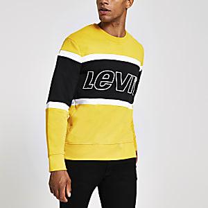 Levi's - Geel sweatshirt met kleurvlakken en logo