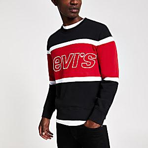 Levi's - Zwart sweatshirt met kleurvlakken en logo