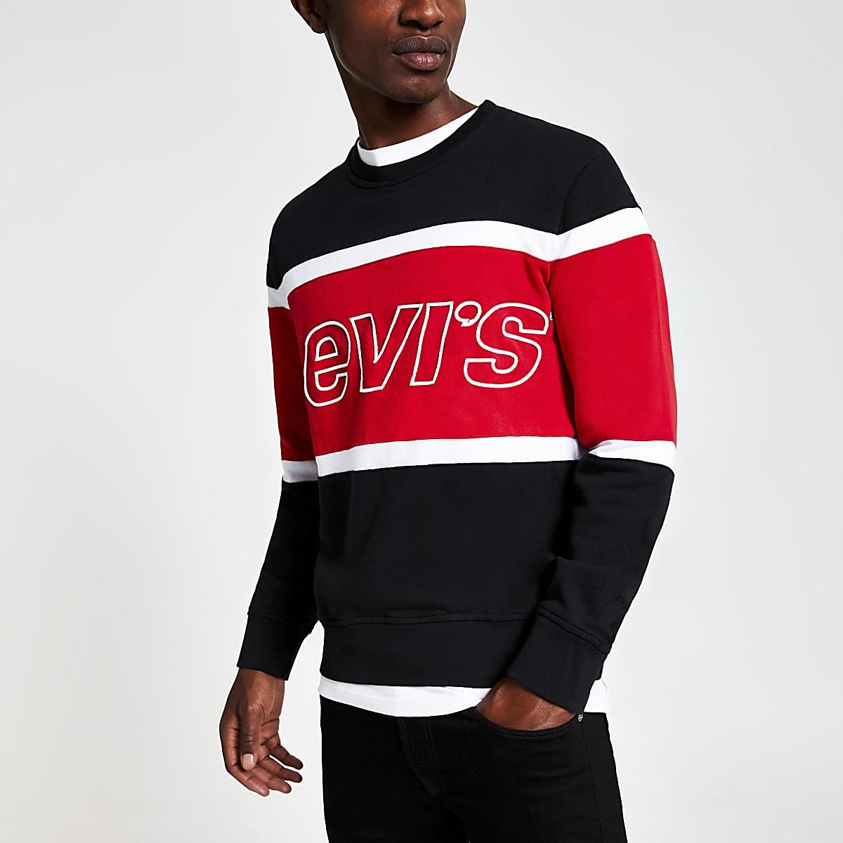 Levi's – Sweat noir à logo colour block