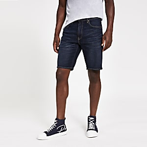 Levi's 502 - Smaltoelopende donkerblauwe denim short