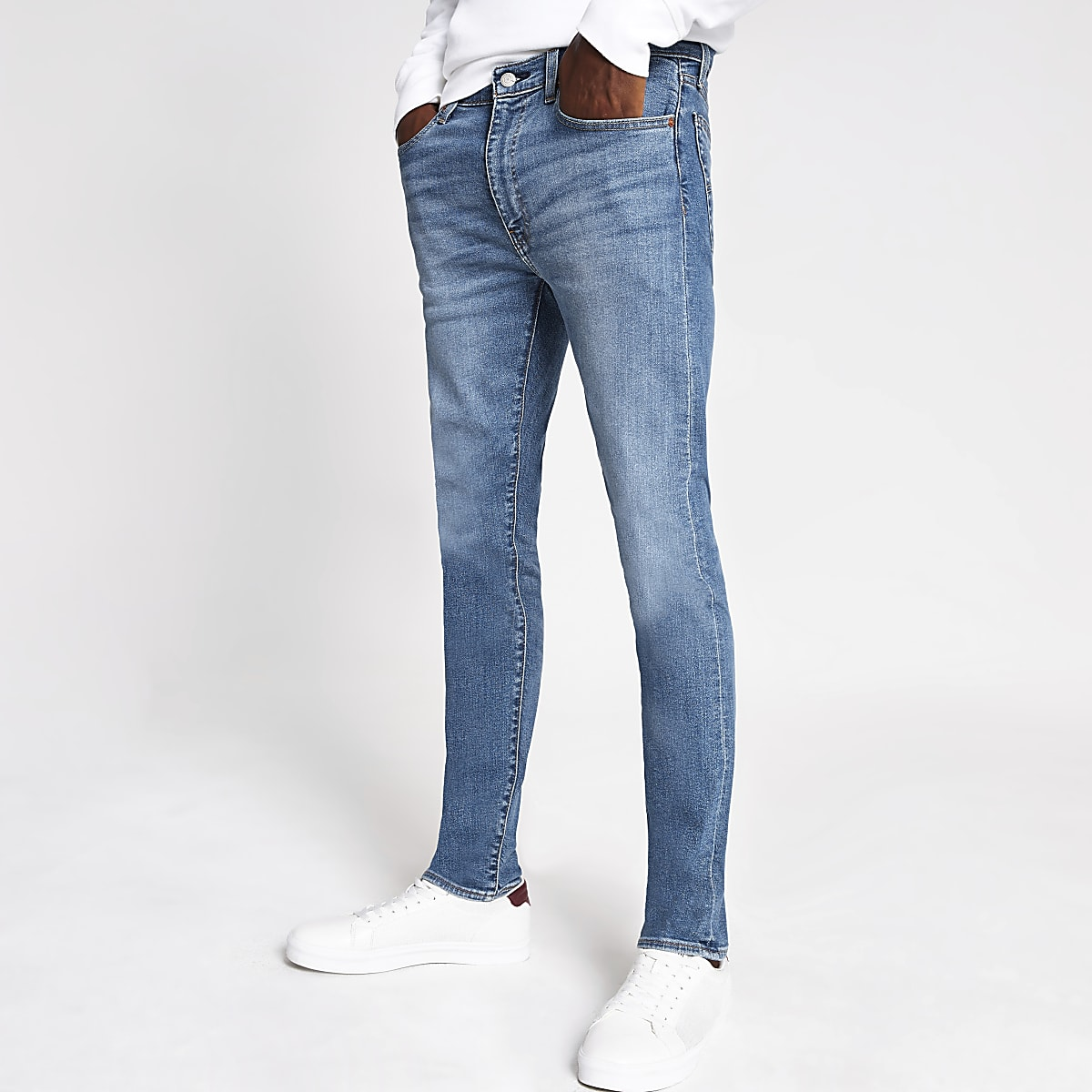 Levi's light blue 519 extreme skinny jeans