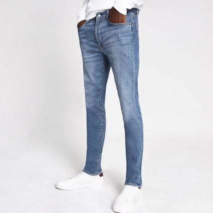 Levi's light blue 519 extreme skinny jeans