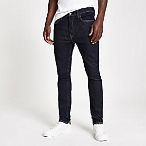 Levi's – 519 – Jean ultra skinny bleu foncé