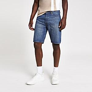 Levi's 501 – Hemmed – Blaue Jeansshorts