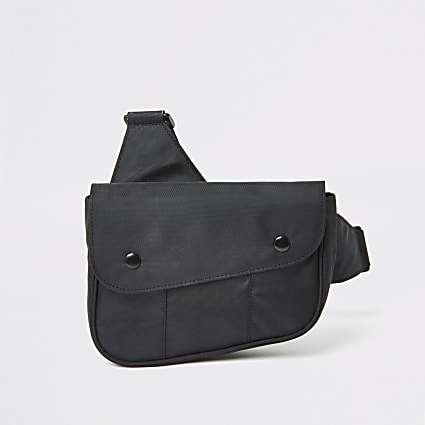 Black nylon cross body bag