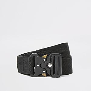 Schwarzer Gürtel mit Clip-Schnalle