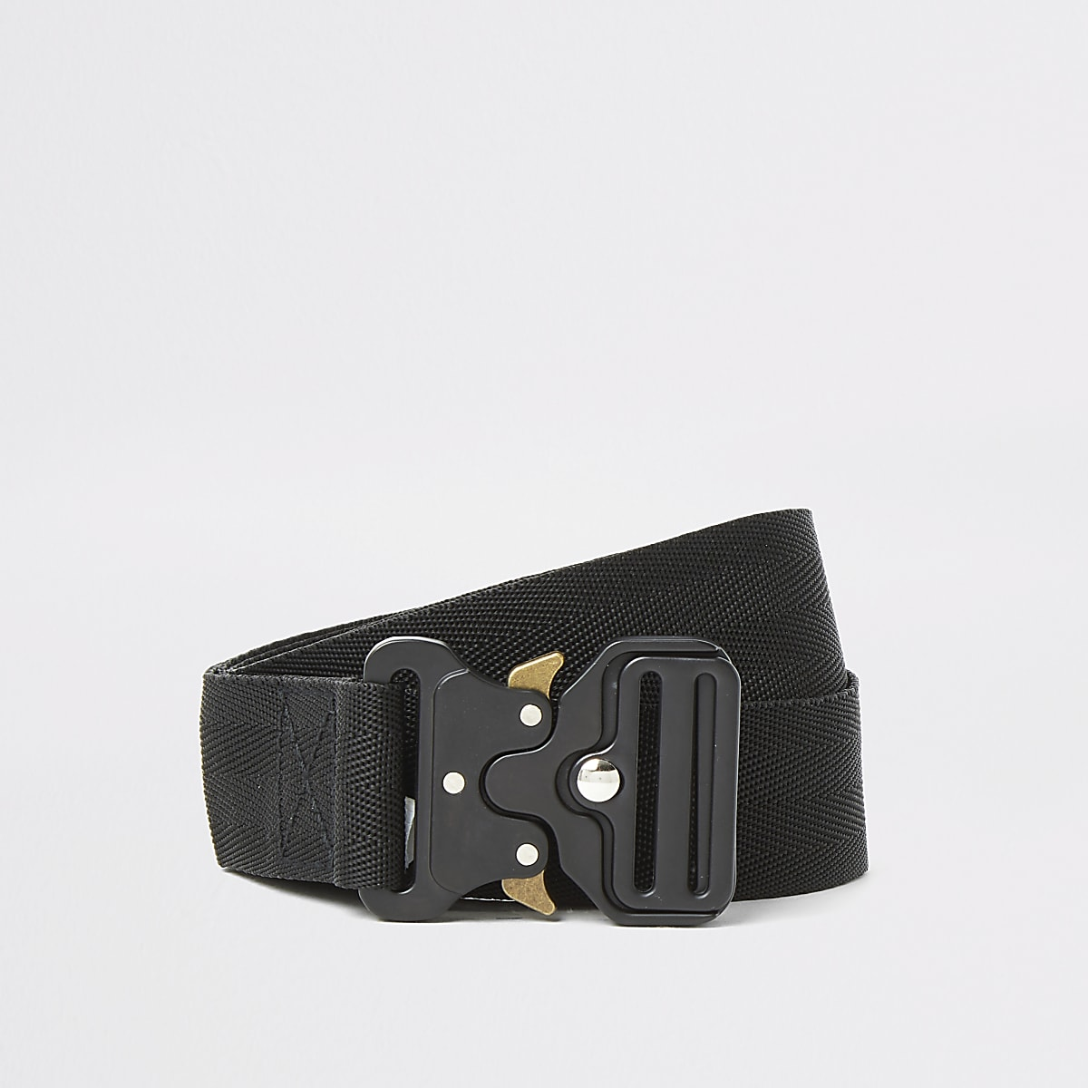 Black clip buckle belt