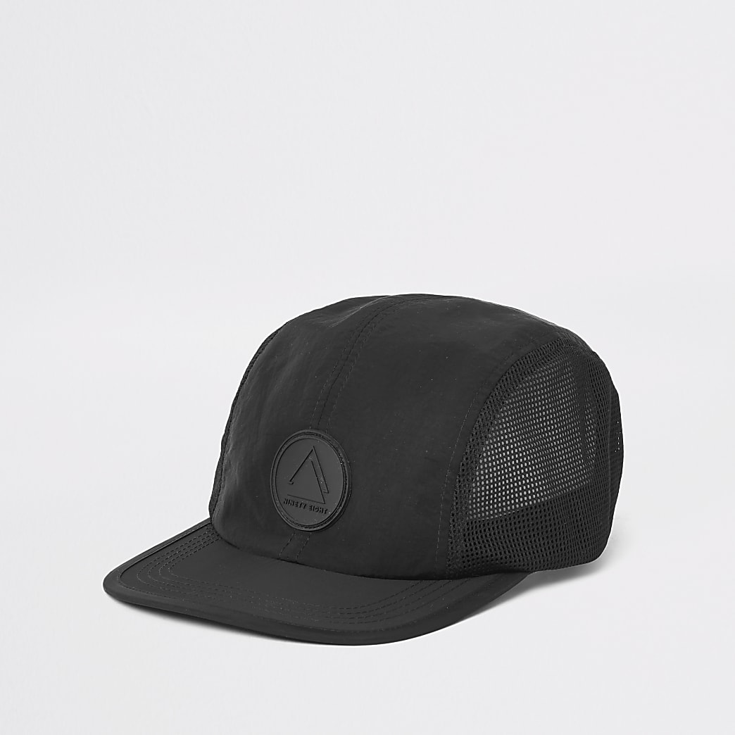 Black 'Ninety eight' four panel cap