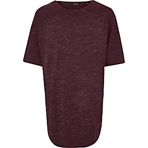 Only & Sons – Big and Tall – T-shirt imprimé rouge