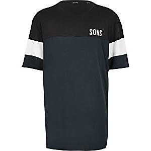 Big & Tall – Only & Sons – T-shirt bleu marine