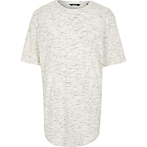 Only & Sons Big and Tall white print T-shirt
