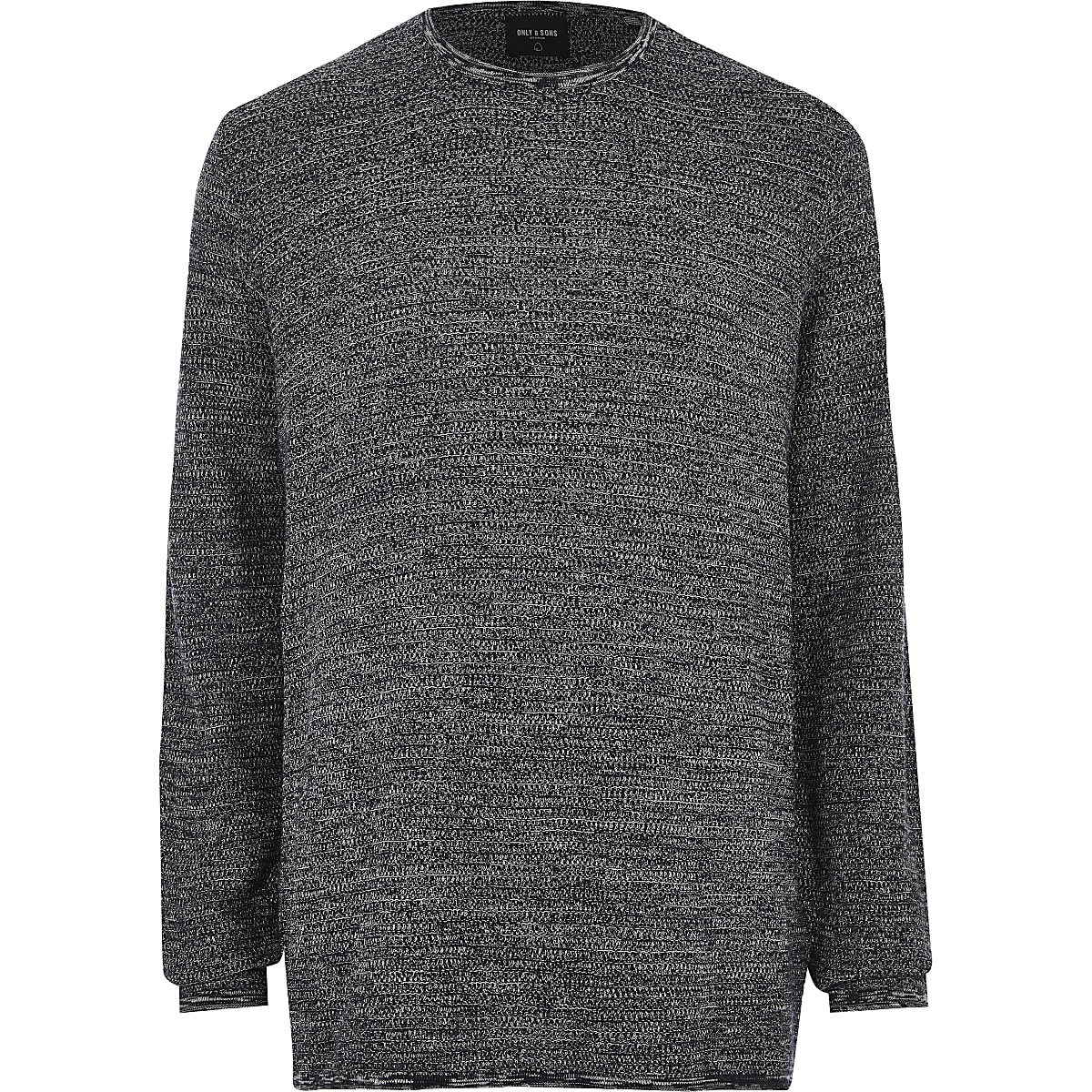 Big and Tall - Only & Sons - Marineblauwe pullover