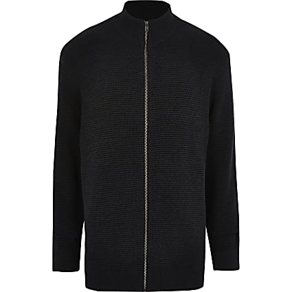 Only & Sons Big and Tall navy cardigan
