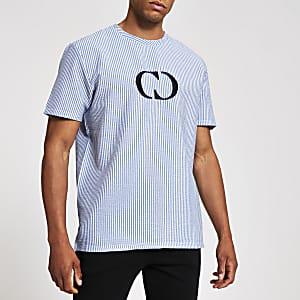 Criminal Damage – Blaues T-Shirt mit Logo