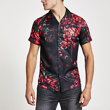 Criminal Damage floral regular fit shirt