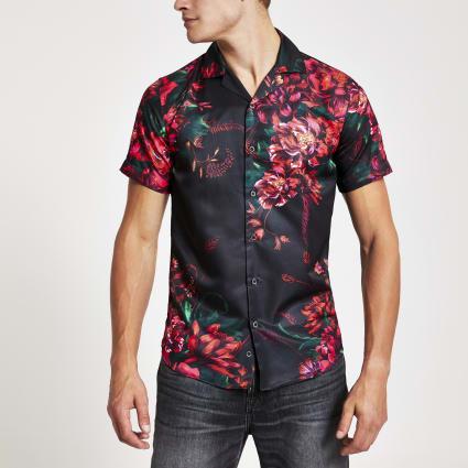 Criminal Damage floral regular fit shirt