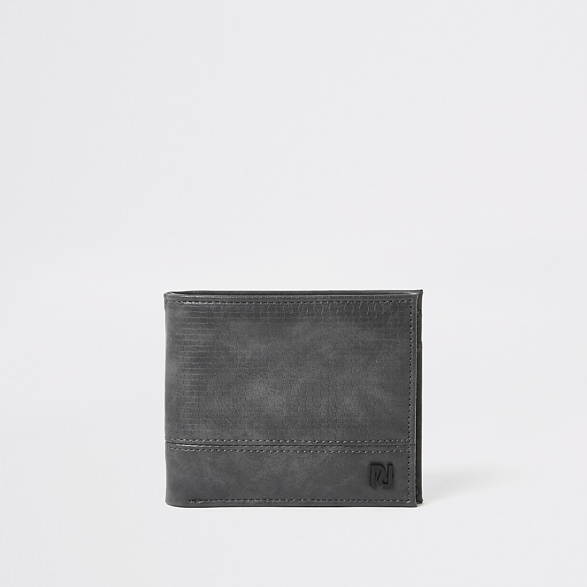 Grey textured RI fold out wallet
