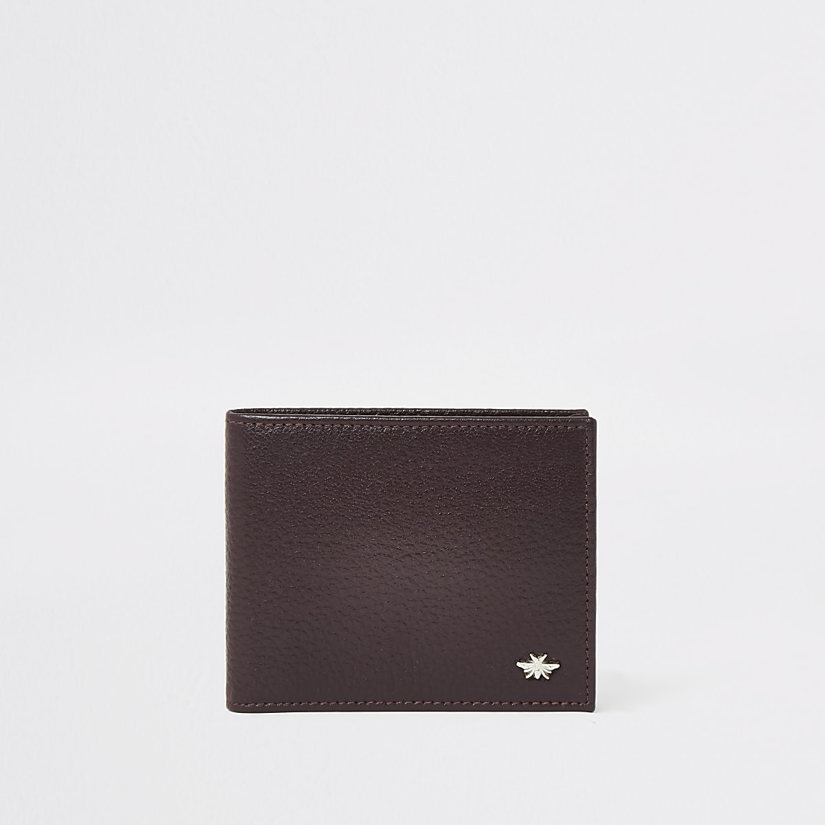Red textured leather wasp wallet