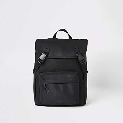 Prolific black clip buckle backpack