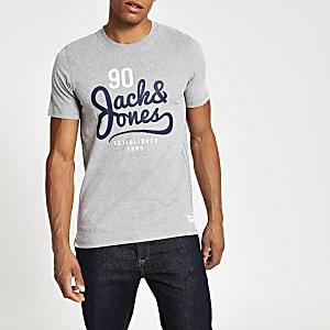 Jack and Jones - Grijs T-shirt met print