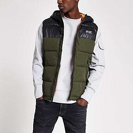 Jack and Jones dark green gilet