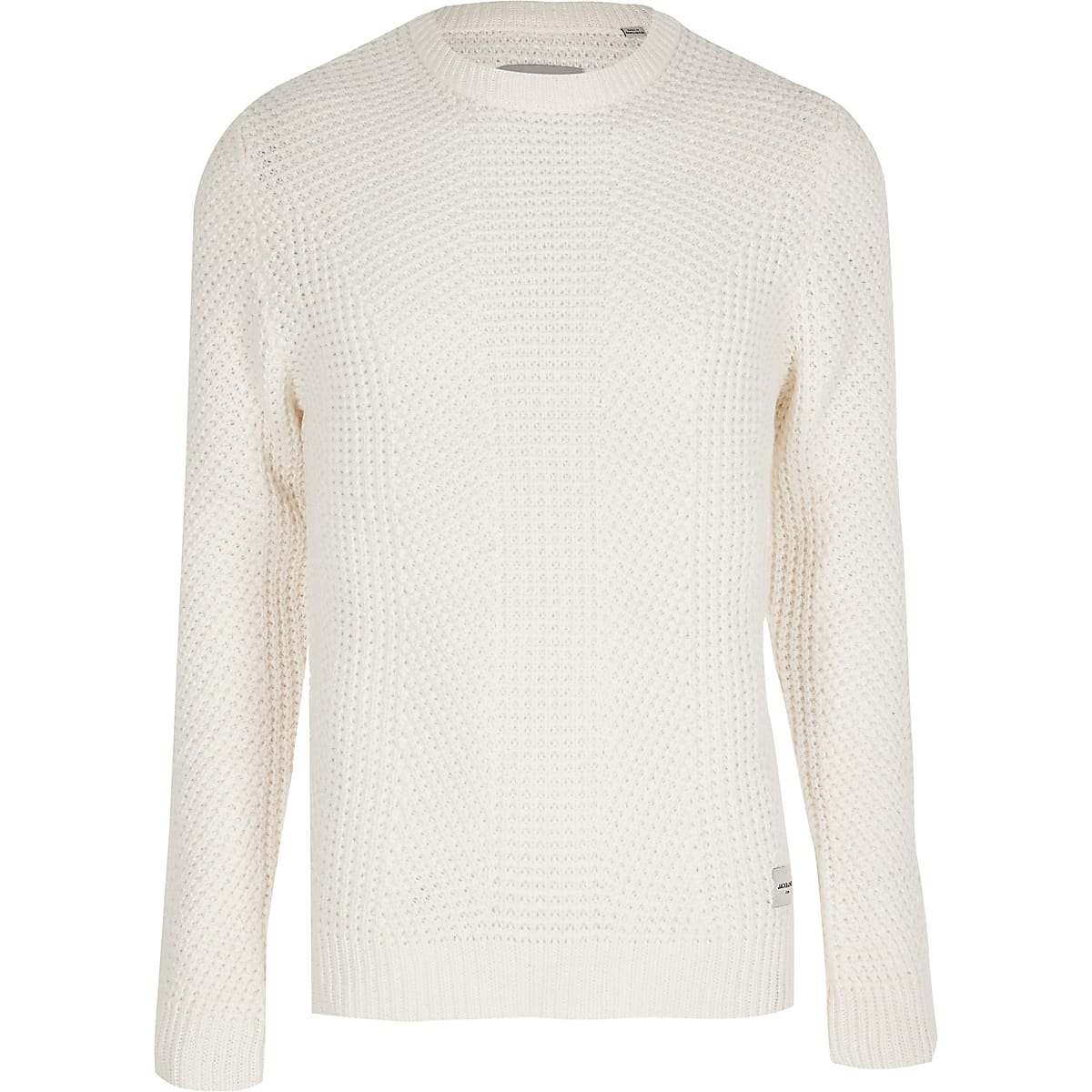 Jack and Jones - Witte gebreide pullover
