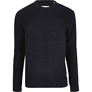 Pull en maille Jack and Jones bleu marine