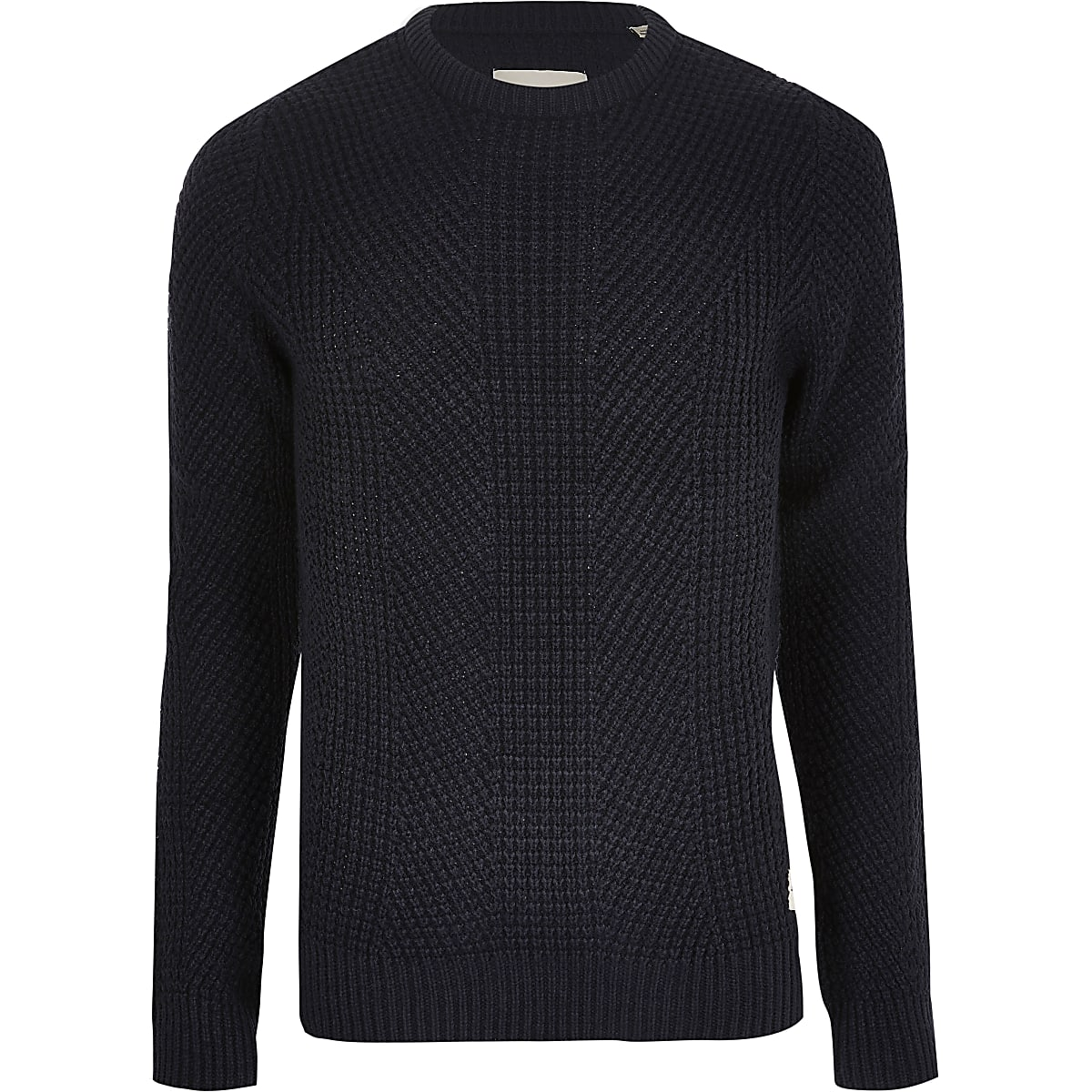 Jack and Jones navy knit jumper