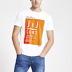 Jack and Jones - Wit T-shirt met Core-borstprint