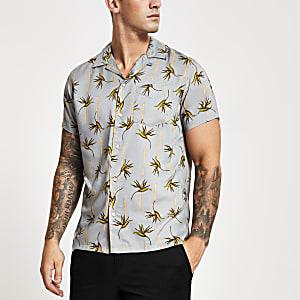 Jack & Jones – Regular Fit Hemd mit Palmenmuster