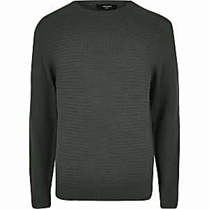 Jack and Jones – Pull en maille vert